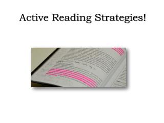 Active Reading Strategies!