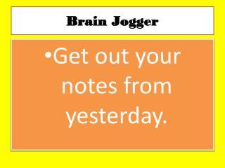 Brain Jogger
