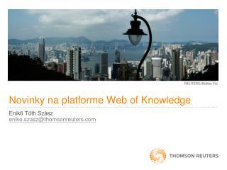 Novinky na platforme  Web of Knowledge