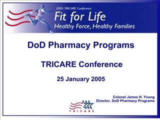 DoD Pharmacy Programs    TRICARE Conference   25 January 2005