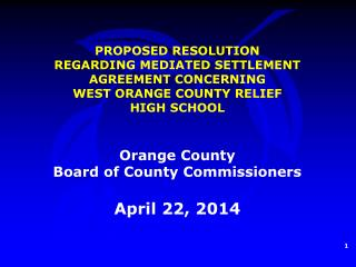 Orange County  Board of County Commissioners April 22, 2014