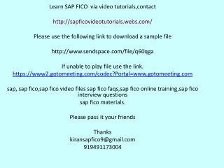 Learn SAP FICO   via video tutorials
