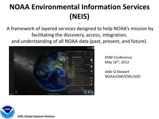 EDM Conference May 16 th , 2012 Jebb  Q Stewart NOAA/OAR/ESRL/GSD