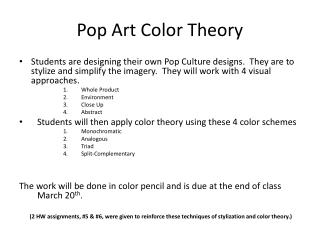 Pop Art Color Theory