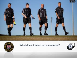 What does it mean to be a referee?