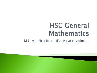 HSC General Mathematics