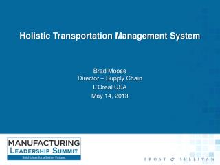 Holistic Transportation Management System