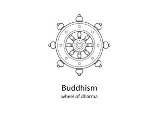 Buddhism wheel of dharma