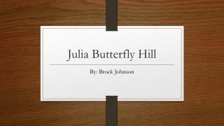 Julia Butterfly Hill