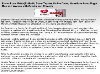 Planet Love Match(R) Radio Show Tackles Online Dating Questi