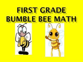 First grade bumble bee Math