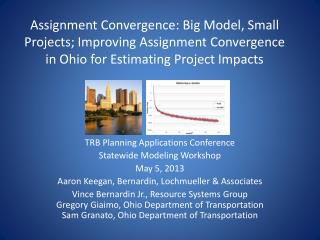 TRB Planning Applications Conference Statewide Modeling Workshop May 5,  2013