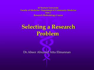 Dr.Abeer Abuzeid Atta Elmannan