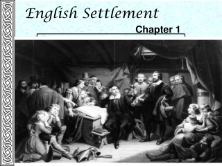 Puritanism and the Settlement of New England