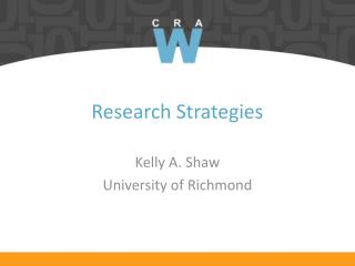Research Strategies