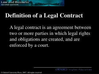 Definition of a Legal Contract