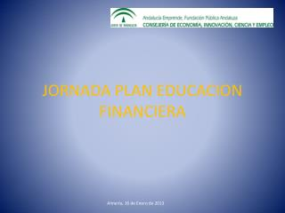 JORNADA PLAN EDUCACION FINANCIERA