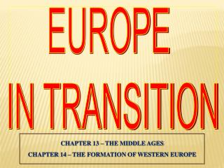 EUROPE  IN TRANSITION