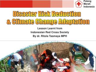 Lesson Learnt  from  Indonesian Red Cross Society By dr.  Ritola Tasmaya  MPH