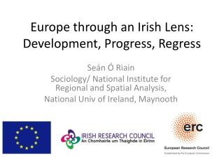Europe through an Irish Lens: Development, Progress, Regress
