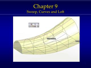 Chapter  9 Sweep,  Curves  and Loft