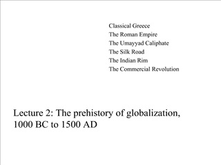 Lecture 2: The prehistory of globalization,  1000 BC to 1500 AD