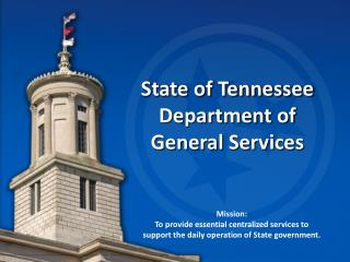 State of Tennessee Department of  General Services