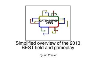 Simplified overview of the 2013 BEST field and gameplay By Ian  Prester