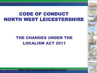 CODE OF CONDUCT NORTH WEST LEICESTERSHIRE
