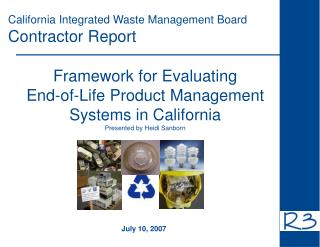 California Integrated Waste Management Board Contractor Report