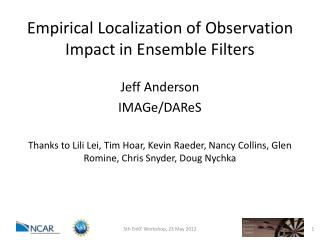 Empirical Localization of Observation Impact in Ensemble Filters