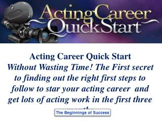Acting Career Information