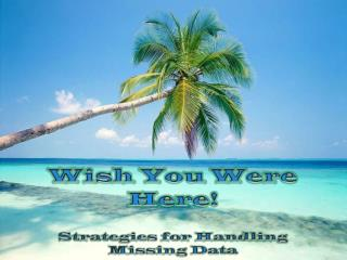 Wish You Were Here! Strategies for Handling  Missing Data