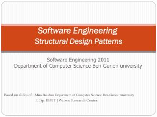 Software Engineering Structural Design Patterns