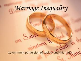 Marriage Inequality