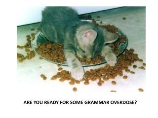 ARE YOU READY FOR SOME GRAMMAR OVERDOSE?