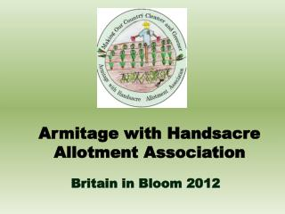 Armitage with Handsacre Allotment Association