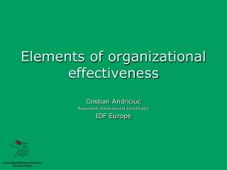 Elements of organizational effectiveness