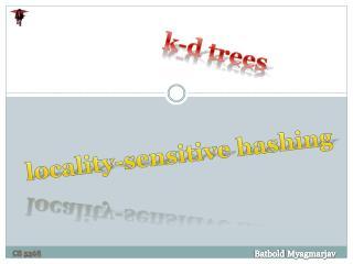 k -d trees