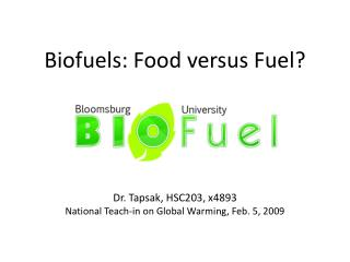 How green are biofuels?