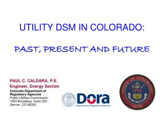 UTILITY DSM IN COLORADO: PAST, PRESENT AND FUTURE
