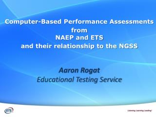 Computer-Based Performance Assessments  from  NAEP and ETS