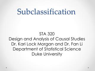 Subclassification