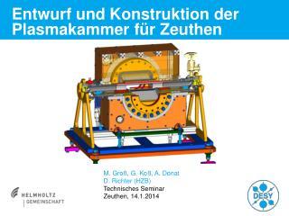 Entwurf und Konstruktion der Plasmakammer für Zeuthen