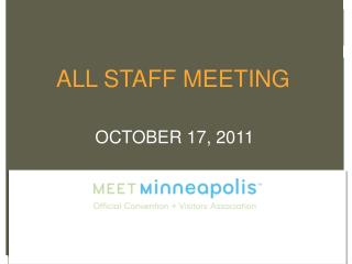 ALL STAFF MEETING