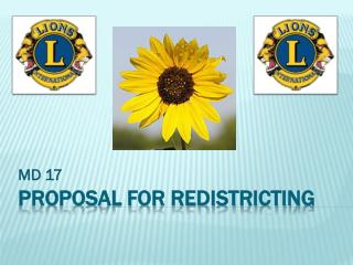 Proposal for Redistricting