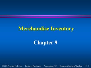 ACC 201 Chapter 9 Power Point Slides