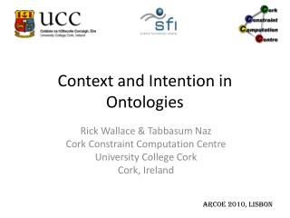 Context and Intention in Ontologies