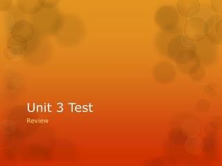 Unit 3 Test