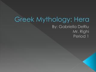 Greek Mythology: Hera